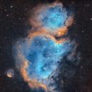Soul Nebula - IC 1848 - Hubble Palette,                                Chuck's Astrophot...