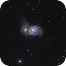Messier 51 - Whirlpool Galaxy,                                Rikesh Patel