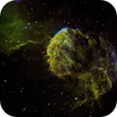 Jellyfish nebula in Hubble palette with Ha as Luminance,                                Mike