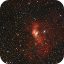 NOVA CAS 2021 ( V1405 Cas ) , NGC 7635 und  M52 ( NGC 7654 ) first test with OSC and Hubble SHO in APP,                                Keller F.