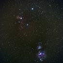 Orion belt nebulas,                                Simon