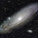 M31 an zwei Tagen,                                Peter Schmitz