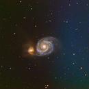 M51 Whirpool Galaxy,                                mousta