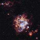 NGC 1760 Emmission Nebula in LMC 20201012 7200s SHO 01.2.2,                                Allan Alaoui