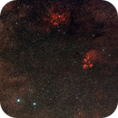 NGC 6334 Cat's Paw nebula & NGC 6357 Lobster nebula,                                J_Pelaez_aab