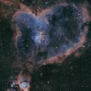 """IC1805 """"The Heart Nebula"""" SHO Palette,                                John Massey"""