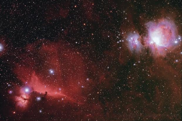 M42 e IC434,                                GiulianoMonti