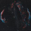 Veil Nebula Complex (HOO) NGC6960 NGC6992 Bi-Color Ha OIII,                                Stan Smith