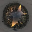 Stereographic projection Winter Milky Way,                                Łukasz Żak
