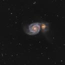 Messier 51 in Canes Venatici - HaLRGB,                    Steve Milne