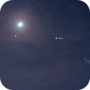 Moon and Mars in the golden gate of the ecliptic @ second try,                                Wolfgang Zimmermann