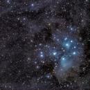 Pleiades with comet c/2016 r2 panstarrs,                    JoAnn