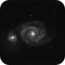 a noisy 232 60 secs unguided exposure on m51 with RC8 at f8,                                Stefano Ciapetti
