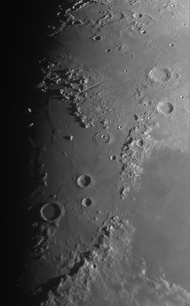 Mare Imbrium with Montes Apenninus and Caucasus,                                Paul Schuberth