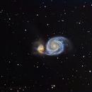 Whirlpool Galaxy and companion,                                Jamee Donithan