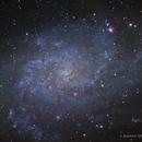 Messier 33 LRGB Triangulum Galaxy,                                Themis Karteris