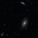 Messier 81, 82 & NGC 3077 : Three galaxies in Ursa Major - LRGB-Ha,                                Daniel.P