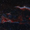 The Western Veil Nebula and Pickering's Triangle - Bicolor,                                Austin Kreisler