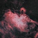 Eagle Nebula (M16) narrowband (custom palette).,                                Kapil K.