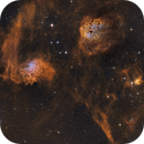 widefield view of  IC405, IC410,                                Ola Skarpen SkyEyE