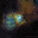 NGC 1491 Hubble Palette,                                Eric Coles (coles44)