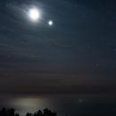 Moon meeting Venus (... and minuscule Neptune!) over the Atlantic Ocean, La Palma, Canary Islands,                                Thilo