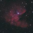 NGC 281 (Pacman Nebula) -- Nikon D5300 & 200 mm Telephoto lens,                                Nick Large