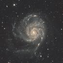 M101 A&M Apochromatic refractor Lzos 130 F6 with Riccardi FR (525mm FL) ASI 294MC pro  EQ6-R 45x300 sec SQM peak 21.53,                                Alessandro Bianconi
