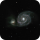 Whirlpool galaxy (m51) with lbv 2019abn,                                *philippe Gilberton