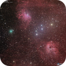 Comet Iwamoto and Auriga nebulas,                                José J. Chambó