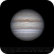 Jupiter 28 Apr 2018 14:23 UTC - North up,                                Seb Lukas