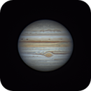 Jupiter with GRS 2021-08-09-0722_7 UT,                                walkman