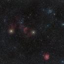 Widefield on Jellyfish , monkey head nebula's and M35,                                Piet Vanneste