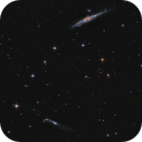 NGC 4631 (Whale) and NGC 4656/4657 (Hockey Stick/Crowbar) and NGC 4627 in LRGB,                                Uwe Deutermann