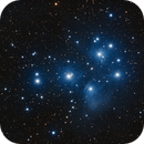 M45 The Pleiades - Merope - Esprit 80 - ASI1600MM Widefield,                                Rowland Archer