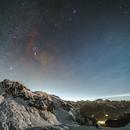 Orion, comet 46P, M45 over the Cernera,                                Davide De Col