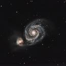 M51 Whirlpool Galaxy,                                dranzaz