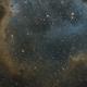 Sharpless in Cas [Sh2-199 & Sh2-198] - Part of the Soul Nebula in SHO,                                G400