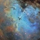 M16-la nébuleuse de l'aigle SHO,                                astromat89