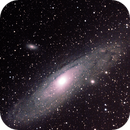 It's 2-fer time again; M31,  M32,  and M110 with the Apertura 60, shot centered on M110,                                David Redwine