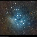 Blue & Brown Cirrus of M45. V4.0 DSLR Image,                                Kees Scherer