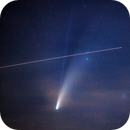 Comet C/2020 F3 (NEOWISE) with ISS Transit,                                Dale Hollenbaugh