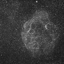 Simeis 147 Spaghetti nebula - Halpha with debaryered DSLR,                                Jocelyn Podmilsak