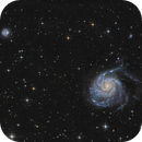 M101 and NGC5474 in LRGBHa,                                Peter Folkesson