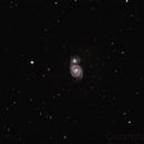Whirlpool Galaxy (M51) at 750mm,                                HenryD