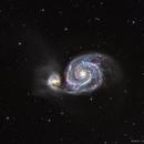 M51 - HaLRGB - 2017 f/10 version,                                Chris Massa