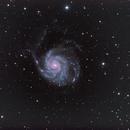 Messier 101 - Pinwheel Galaxy - LRGB-Ha,                                Eric Walden