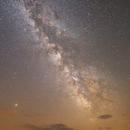 Milky Way and Mars Opposition 2018,                                Hermann Mühlichen
