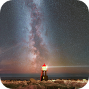 Milky way and lighthouse Norway,                                kenthelleland