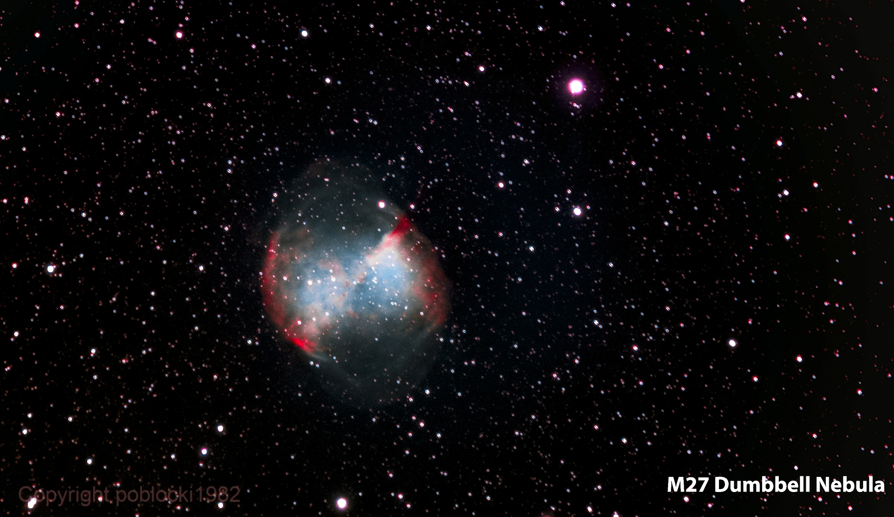 M27 Dumbbell Nebula,                                poblocki1982